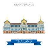 Grand Palace in Bangkok Thailand vector flat attraction travel Stock Photo