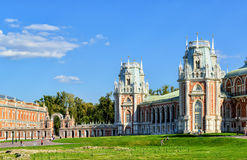 The grand palace of Catherine the Great in Tsaritsyno, Moscow Stock Images