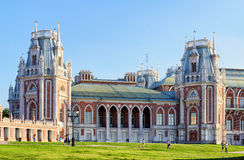 The grand palace of Catherine the Great in Tsaritsyno, Moscow Royalty Free Stock Images
