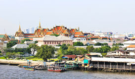 Grand palace and the city of Bangkok Royalty Free Stock Photos
