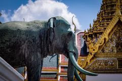 Grand Palace Elephant Monument Thailand. Very much one of the main tourist attractions and points of interest in the area Royalty Free Stock Photography