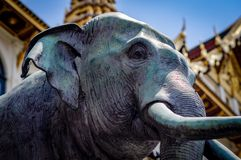 Grand Palace Elephant Monument Thailand. Very much one of the main tourist attractions and points of interest in the area Royalty Free Stock Images