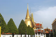 The Grand Palace and The Emerald Buddha Temple Stock Photos
