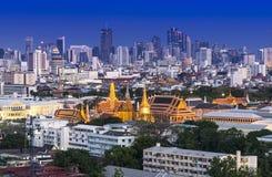 Grand Palace and Emerald Buddha Temple (Wat Phra Kaew) Stock Image