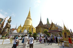 The Grand Palace and the Emerald Buddha in Thailand Royalty Free Stock Image