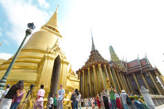The Grand Palace and the Emerald Buddha in Thailand Stock Photography