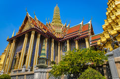 Grand palace and emerald palace in Bangkok Stock Image