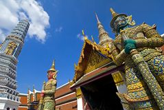 Grand Palace Guardians - Bangkok Stock Photo