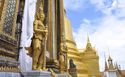 The Grand Palace. Hai demon on golden pagoda at the Grand Palace. Bangkok, Thailand stock photos