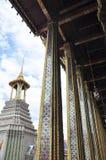 The Grand Palace. Hai demon on golden pagoda at the Grand Palace. Bangkok, Thailand stock photo