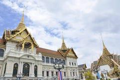 The Grand Palace. Hai demon on golden pagoda at the Grand Palace. Bangkok, Thailand royalty free stock photos
