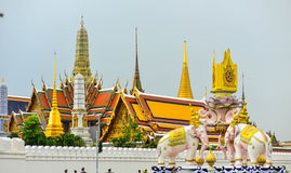 Grand Palace in Kingdom of Thailand. Grand Palace Kingdom of Thailand of evening Stock Photos