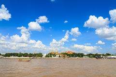 The Grand palace and Longtail tourist boat Royalty Free Stock Image