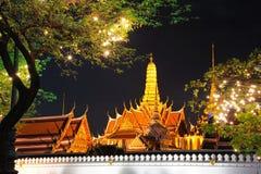 Grand Palace at night Stock Photos