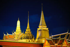 Grand Palace at night Stock Photography