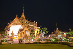Grand Palace at night,Bangkok Stock Images