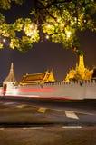 Grand palace at night in Bangkok Stock Photography
