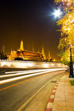 Grand palace at night in Bangkok Royalty Free Stock Photos