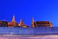 Grand palace at night Royalty Free Stock Photography