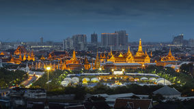 Grand Palace at Nightscene Stock Photos