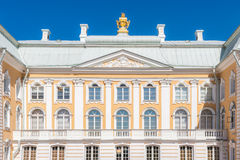Grand Palace ornament facade. Grand Palace ornament facade in the Peterhof State Museum Preserve Royalty Free Stock Images