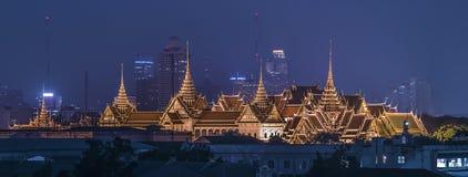 Grand Palace panorama in Bangkok Stock Images