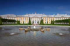 Grand Palace of Peterhof Stock Photos