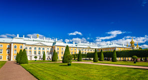 The Grand Palace of Peterhof Royalty Free Stock Photo