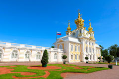 Grand palace in Peterhof, Russia Royalty Free Stock Images