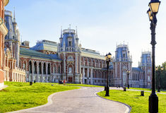 The grand palace of queen Catherine the Great in Tsaritsyno, Mos Stock Photos