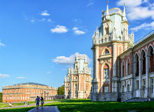 The grand palace of queen Catherine the Great in Tsaritsyno, Mos Stock Images