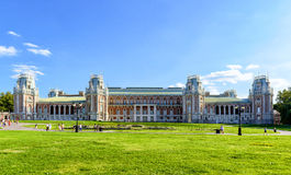 The grand palace of queen Catherine the Great in Tsaritsyno, Mos Stock Photo
