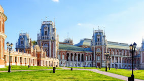 The grand palace of queen Catherine the Great in Tsaritsyno, Mos Royalty Free Stock Image