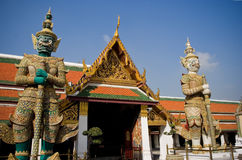 Grand palace of Tailand. This photo is taken at Grand Palace,when travel in Tailand,very beautiful historic buildings,decorated with innumerable coloured glaze stock photos