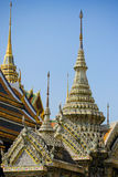 Grand palace of Tailand. This photo is taken at Grand Palace,when travel in Tailand,very beautiful historic buildings,decorated with innumerable shells .Photo by Royalty Free Stock Photos