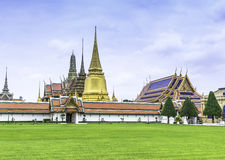 Grand Palace and Temple in Bangkok Thailand Royalty Free Stock Photography