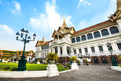 Grand Palace (with temple of Emerald Buddha), attractions in Bangkok, Thailand. Royalty Free Stock Image