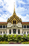 Grand Palace (with temple of Emerald Buddha) at the heart of Bangkok, Thailand. Royalty Free Stock Image