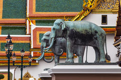 Grand Palace (with temple of Emerald Buddha) at the heart of Bangkok, Thailand. Stock Images