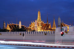 Grand palace temple with night time ,Bangkok,Thailand Royalty Free Stock Photo