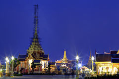 The Grand Palace and temporary pagoda Royalty Free Stock Photography