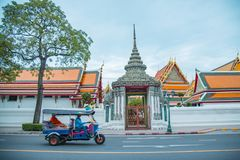 The grand palace in the middle of Bangkok which is really beautiful and wonderful royalty free stock photo