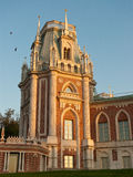 Grand palace in Tsaritsyno. At sunset, Moscow, Russia Royalty Free Stock Photos