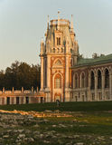 Grand palace in Tsaritsyno. At sunset, Moscow, Russia Royalty Free Stock Images