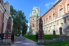 The grand palace in Tsaritsyno. Moscow, Russia. Tsaritsyno museum and reserve in Moscow was founded in 1984 in the park of the same name stock images