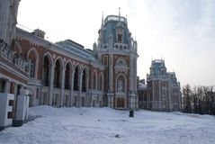 Grand Palace in Tsaritsyno reserve, Moscow, Russia. The residence of Catherine the great Royalty Free Stock Photo