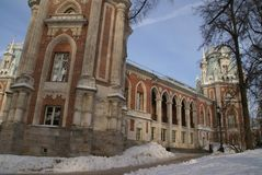 Grand Palace in Tsaritsyno reserve, Moscow, Russia. The residence of Catherine the great Stock Photo