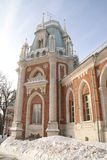 Grand Palace in Tsaritsyno reserve, Moscow, Russia. The residence of Catherine the great Royalty Free Stock Photos