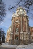 Grand Palace in Tsaritsyno reserve, Moscow, Russia. The residence of Catherine the great Stock Images