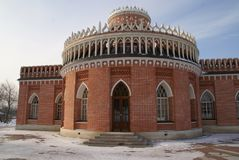 Grand Palace in Tsaritsyno reserve, Moscow, Russia. The residence of Catherine the great Stock Photos